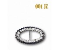 Пряжка со стразами 001-JZ темный никель