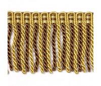 Бахрома для штор витая SK1109-3 золото/коричневый (20 м)