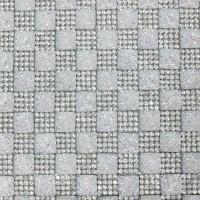 Стразы на листе 24х4см клеев. (квадрат 10х10мм) 15# радужные/crystal