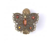 """Прищепка для штор """"бабочка"""" HJ84353-3 бронза (2 шт)"""