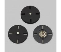 Кнопка пришивная декоративная нержавеющая металлическая HJ001 40L черный (24 шт)
