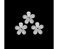 """12мм-1 прозрачно-белый Украшение """"цветок"""" пластик (20 шт.) К217"""