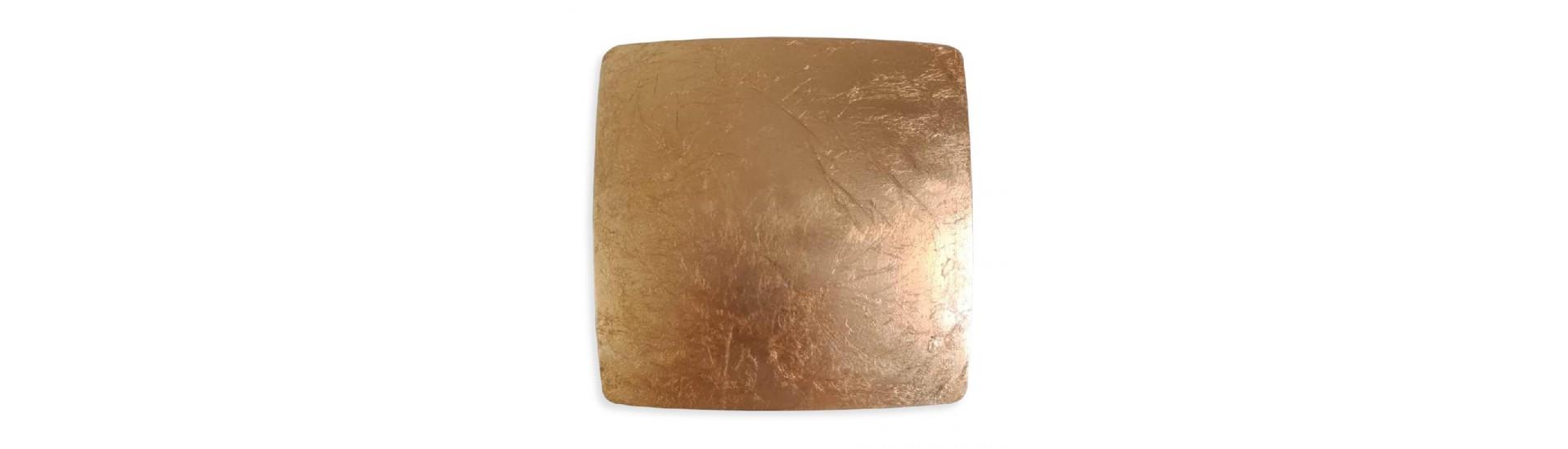 Магнит для штор на тросе Паталь золото 14,5 см Квадрат