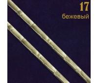"""17 беж Шнур кожзам """"Рептилия"""" прош. 0,3 см (34ярд)"""