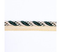 Кант шторный SHK01C-2 бежевый/темно-зеленый (50 м)