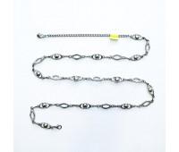 Ремень металлический 731 темный никель (10 шт)