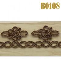 Тесьма B0108 коричневый (13,7 м)