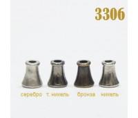 Концевик пластиковый 3306 серебро (100 шт)