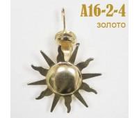 "Зажим для штор ""Солнце"" A16-2-4 золото (12 шт)"