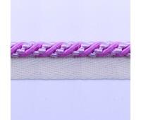 Кант шторный (искусственный шелк) SHK20-2 розовый/белый (25 м)