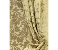 Ткань для штор блэкаут софт 2-х сторонний с рисунком WZGA1360-03 бежевый/золото (25 м± )