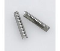 Концевик зажим для ремня металлический нержавеющий T3410Z никель 3 см