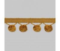 """Бахрома для штор с """"шариками"""" SM-B7-052/465 (BE2075) темное золото (20 м)"""