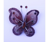 Украшение для штор Бабочка темно-коричневый HJH89572-2 (уп. 6 шт)