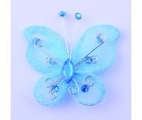 Украшение для штор Бабочка голубая HJH89572-9 (уп. 6 шт)