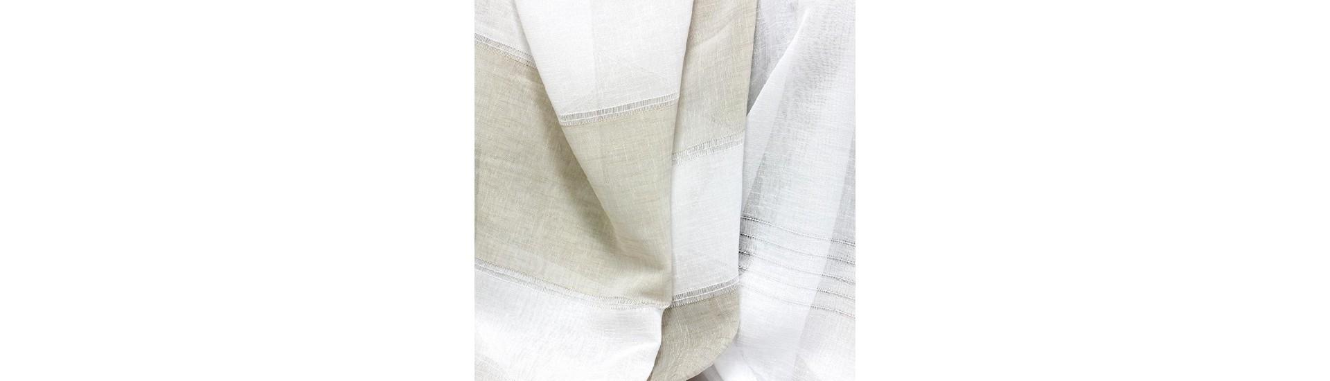 Ткань для штор имитация льна MAT11 FANTAZI TUL A. KREM высота 295 см (~25 м)