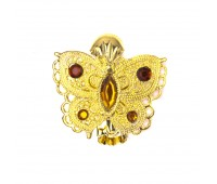 """Прищепка для штор """"бабочка"""" HJ84353-1 золото (2 шт)"""