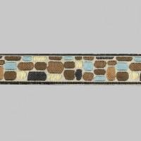 Бордюр для штор K4002-4 коричневый/синий/белый (3,5 см/25 м)