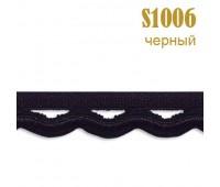 Резинка кружево 1006S черный (132 м)