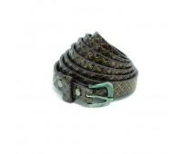 Ремень к/з 10#-2 темный никель/темно-коричневый 140 см, шир. 15 мм (10 шт)