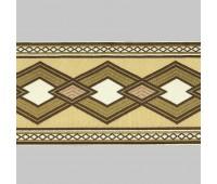 Бордюр для штор K1203-1 бежевый/коричневый/белый ±12 см (25 м)