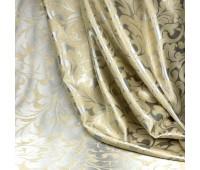Ткань для штор блэкаут софт 2-х сторонний с рисунком WZGA1360-125 бежевый/стальной (25 м±)