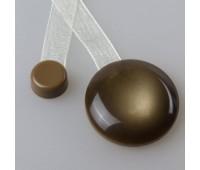 """Магнит для штор """"нефрит"""" с лентой №59 Шоколад"""