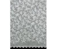 Жаккардовый тюль высота 290 см (35м±) 5028F Rashel Tulle White (129B)