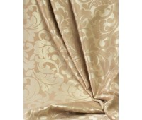 Ткань для штор блэкаут софт 2-х сторонний с рисунком WZGA1360-201 персиковый/бежевый (25 м± )