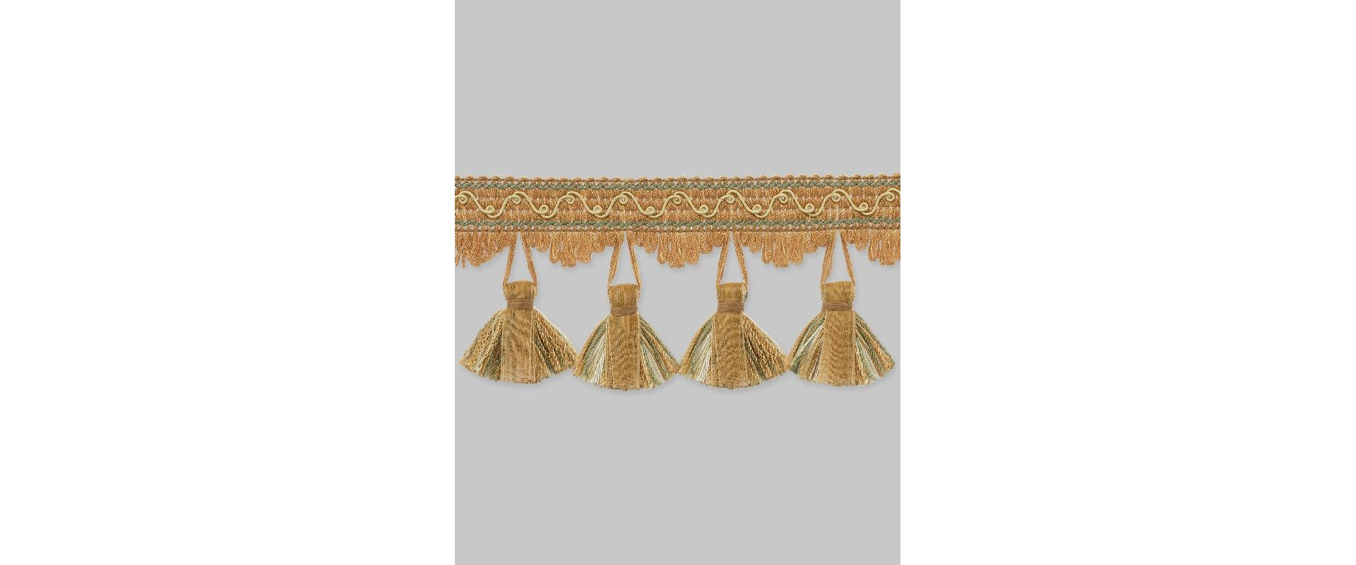 Бахрома для штор NT325-0219 светло-коричневый/золото