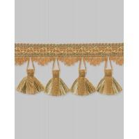 Бахрома для штор NT325-0219 светло-коричневый/золото (25 м)