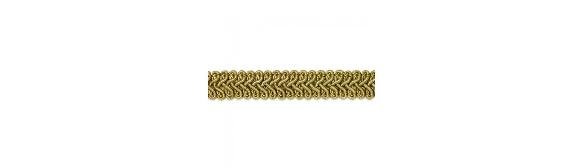 Шторная тесьма SR010 темное золото (50 м)