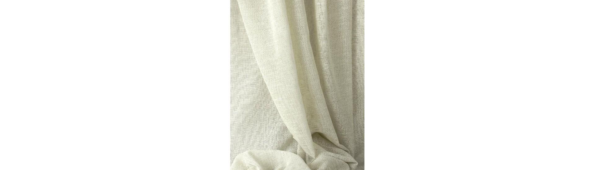 Ткань для штор имитация льна SLM-101-13 молочный высота 280 см (25 м±)