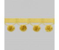 "Бахрома для штор с ""шариками"" SM-B7-052/622 (BE2075) светлое золото (25 м)"
