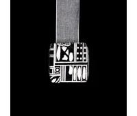 """Магниты для штор """"квадрат"""" HJ18400-A1 белые/черные (уп. 2 шт.)"""