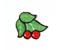 """Аппликация вышитая клеевая """"Вишня с листьями"""" 2399 (уп. 10 шт.)"""