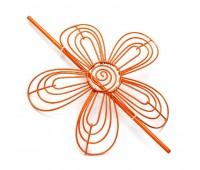Заколка для штор Цветок HJ45781 оранжевый (4 шт)