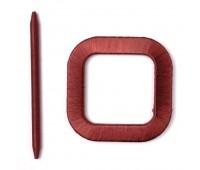 "Заколка для штор ""квадрат"" малый атлас/дерево FLXY001-4 бордо (4 шт)"