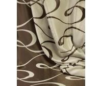 Ткань для штор блэкаут софт 2-х сторонний с рисунком WZGA3009-16 бежевый/темно-коричневый (25м± )