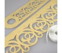 Комплект ажурных ламбрекенов светлое золото П005-25-02, длина 2,5 м