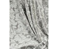 Ткань для штор блэкаут софт 2-х сторонний с рисунком WZGA1360-01 светло-серый/стальной (25м± )