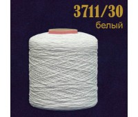 Оплетенная латексная нить 3711/30 белый