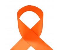 1019UN Лента атласная 50 мм оранжевый (33 м)
