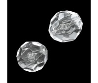 "Бусины ""Шар граненный"" диаметр 30 мм AZ-0728 crystal (500 г~37 шт)"
