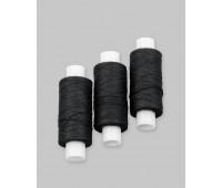 Нитки хлопчатобумажные бытовые ХБ-40 черные (30 шт по 150 м)