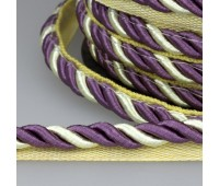 Кант шторный SHK010 светло-бежевый/фиолетовый (25 м)