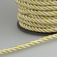 Шнур витой SH15-11 золотой/бежевый (50 м)