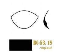 Чашки для бюстгалтеров корсетные BC-53.18/80 черные (10пар)