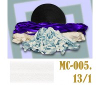 Эластичная отделочная лента 13/1 (15) MC-005 белая (50 ярд)