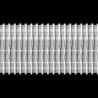 Шторная лента 10 см TZ16/z-200 (2.100.200.3) (50 м)